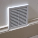 Vent for solar heating into drying room