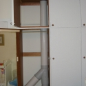 PVC Ducting Through Cupboard
