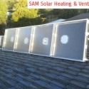 Solar space heating with solar heaters