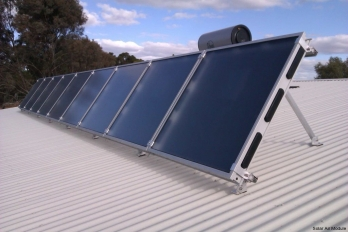 Solar heating and cooling for Eco Living Centre