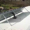 Solar ventilation and heating remove moisture