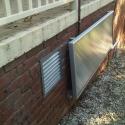 Sub-floor ventilation with pre-heated air