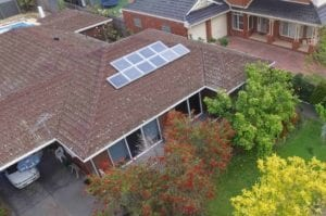Hillbrick residence Aerial shot of Solar Air Modules