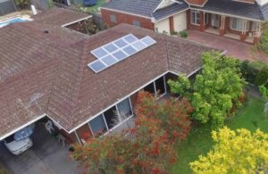 SAM100 install at Hillbrick - Solar Air Module Aerial shot