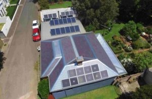 SAM160 install - Solar Air Module aerial shot