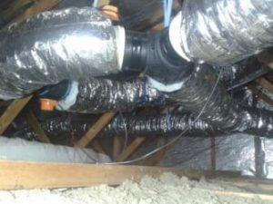 ducting in roof space